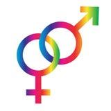 Блокируя символы радуги мужские женские Стоковое Изображение RF