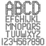 Блоки алфавита иллюстрация штока