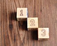 Блоки 123 алфавита Стоковые Фото