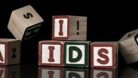 Блоки ВИЧ падая на блоки помощи видеоматериал