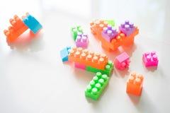 Блоки кирпича конструкции игрушки Стоковая Фотография RF