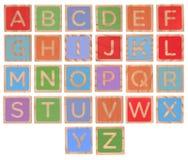 блоки предпосылки алфавита изолировали белизну стоковые фото
