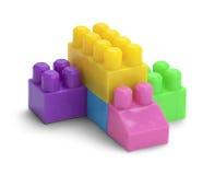 Блоки пластмассы игрушки Стоковые Изображения