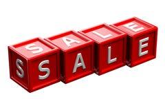 Блоки с продажей слова перевод 3d Стоковое Фото