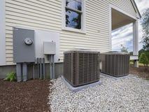 Блоки топления и кондиционера HVAC Стоковые Фотографии RF