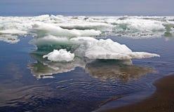 Блоки льда к морю Стоковое Изображение RF