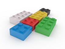 Блоки Lego иллюстрация вектора