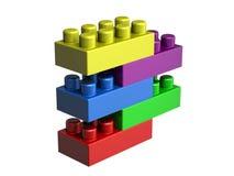 блоки lego 3D Стоковые Фото