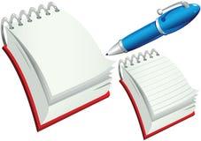 Блокноты и ручка Стоковые Фотографии RF