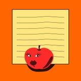 Блокнот - красное яблоко Стоковые Изображения