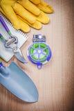 Блокнот лопаты руки связи провода pruner сада защитных перчаток мягкий Стоковые Изображения RF