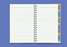 блокнот также вектор иллюстрации притяжки corel Стоковые Изображения
