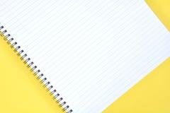 Блокнот Yello Стоковые Фотографии RF