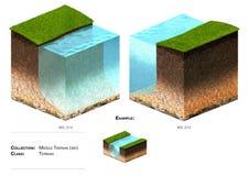 блок ландшафта 3D Стоковое Изображение RF