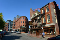 Блок Бостона Blackstone, Массачусетс, США Стоковые Фото