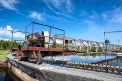 Блок водоочистки для чистки нечистот в поселенцах Стоковое фото RF