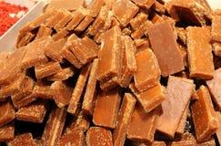 Блок желтого сахарного песка стоковая фотография rf