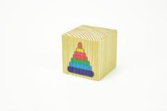 Блок игрушки деревянный Стоковые Фото