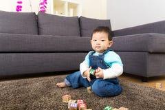 Блок игрушки игры ребёнка Азии деревянный Стоковые Изображения