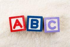 Блок игрушки ABC Стоковое Фото