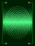 Блок развертки отпечатка пальцев Стоковые Фотографии RF