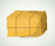 Блок сена земледелия и дизайна фермы Стоковое Изображение RF