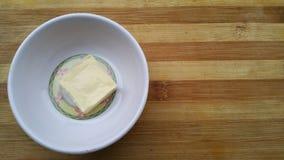 Блок сыра в шаре Стоковые Фото