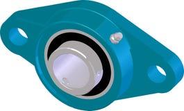 Блок фланцевого подшипника (снабжение жилищем) также вектор иллюстрации притяжки corel Стоковые Изображения RF