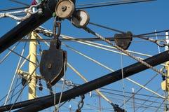 Блок шкива рыбацкой лодки Стоковое Фото