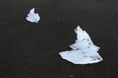 Блок льда в лаве Стоковые Изображения RF