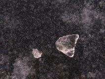 Блок льда на замороженном озере Стоковые Изображения RF
