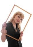 Блондинка в рамке Стоковая Фотография RF