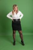 Блондинка в черно-белом Стоковые Изображения