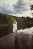 Блондинка девушки Стоковая Фотография