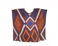 Блузка женщин с геометрической картиной Стоковые Изображения