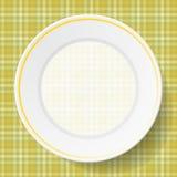 Блюда изображения на салфетке Стоковые Изображения RF