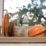блюда на windowsill Стоковое Изображение