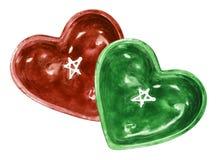 Блюда формы сердца Стоковое фото RF