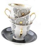 Блюда для кофе приема, бака кофе, поддонника Стоковая Фотография RF