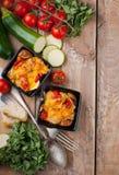 2 блюда vegetable сотейника Стоковая Фотография RF