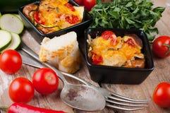 2 блюда vegetable сотейника Стоковое Изображение RF