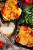 2 блюда vegetable сотейника Стоковое Изображение