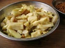 Блюдо бамбуковых всходов Стоковое Изображение RF