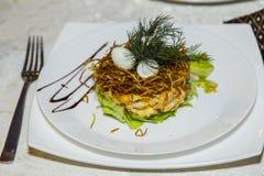 Блюдо в ресторане Стоковая Фотография