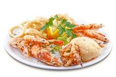 Блюдо деликатесов морепродуктов Стоковое Фото
