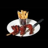 Блюдо еды нервюр Стоковое Изображение