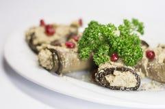 Блюдо заполненное баклажаном грузинское Стоковое фото RF