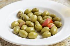 Блюдо зеленых оливок sevillian типа Стоковое Изображение RF