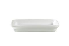 Блюдо кашевара и подачи прямоугольника керамическое Стоковая Фотография