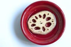 Блюдо куска корня лотоса Стоковая Фотография RF